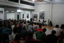 Suasana peluncuran buku Slilit Sang Kiai di Yogyakarta (foto:hendijo)