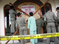 Sebuah gereja yang disegel di Riau (foto:nabble.com)