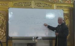 KH. Muchtar Adam saat mengisi pengajian tasawwuf di rumahnya, Bandung pada Minggu (02/03).