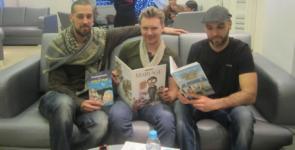 Noredine Allam (kiri), Greg Blondin (tengah), dan Karim Allam (kanan)