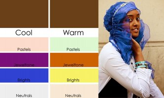 Warna hijab untuk kulit gelap