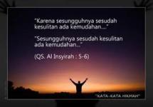 Pesan al-Qur'an tentang kesulitam.