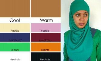 Warna hijab untuk kulit sedang