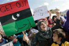 Demonstran Libya.