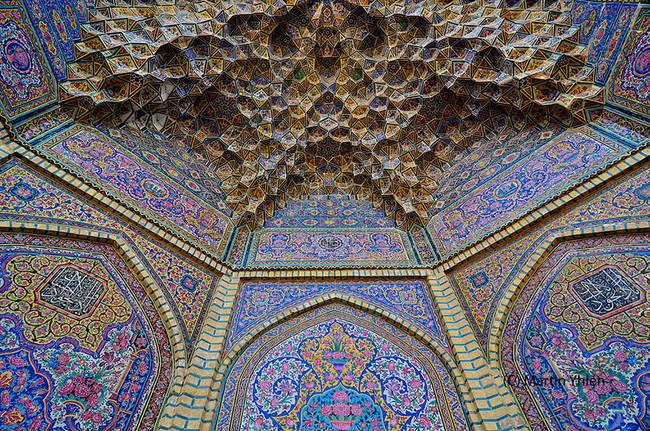 8.) Nasir Al-Mulk Mosque, Shiraz, Iran