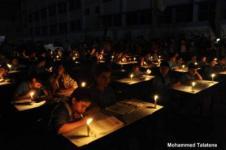 Krisis listrik di Gaza.