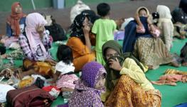 warga Sampang saat mengungsi