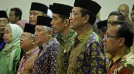 Presiden Joko Widodo hadir dalam penutupan Kongres Umat Islam.
