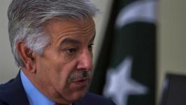 Menteri pertahanan Pakistan Khawaja Asif