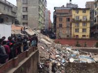 Gempa menghancurkan bangunan bersejarah di Nepal