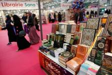 Pameran buku-buku Islam Paris, 3 April 2015.