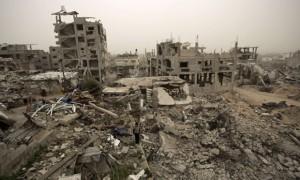 reruntuhan di Gaza