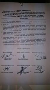 Surat kesepakatan Penyelenggaraan BPJS Kesehatan