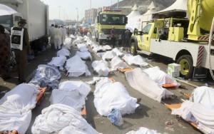 Bodies of Muslim pilgrims