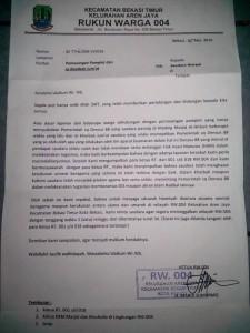 Penolakan Warga Bekasi--islamindonesia.id