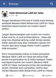 Klarifikasi Habib Lutfi
